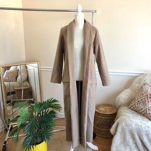 BB Dakota Long Camel Coat in Churro Blogger Fave S